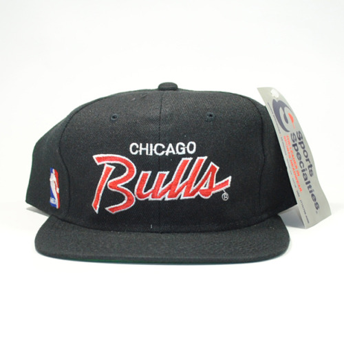 SPORTS SPECIALTIES DEADSTOCK NBA CHICAGO BULLS SCRIPT SNAPBACK #junkmania