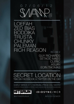 Lineup for the next Swamp 81 night, one of the best places to go to find UK house. Catch Loefah on Rinse Fm with the Swamp 81 show.