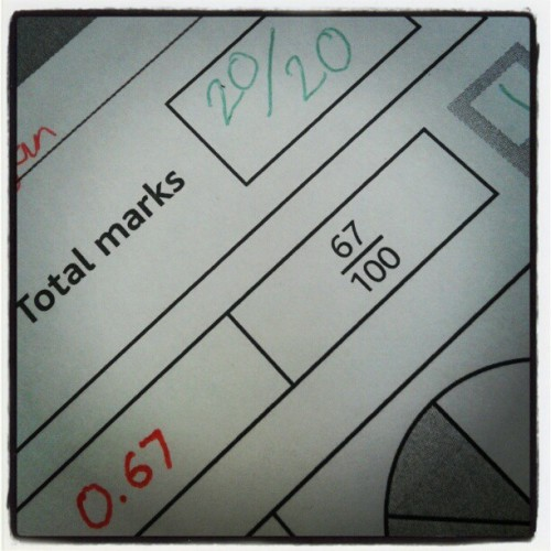 Mental Maths test bossed again. :D #maths #fun #work (Taken with instagram)