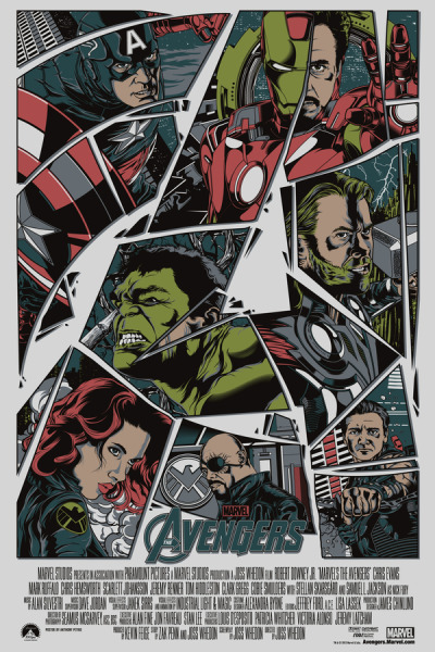 timetravelandrocketpoweredapes:  The Avengers by Anthony Petrie