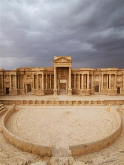 "save999things:  #49. Palmyra ""There is a temple in ruins stands, Fashion'd by long forgotten hands: Two or three columns, and many a stone, Marble and granite, with grass o'ergrown!"" Lord Byron"