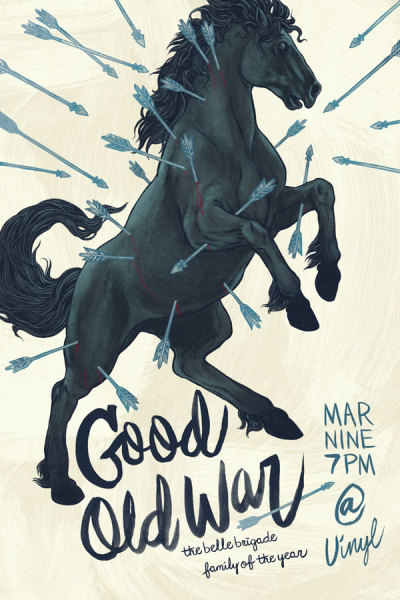 heavygraffic:  Brandon Loving - Gig poster for the band Good Old War