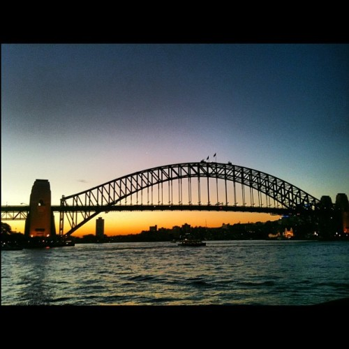#sydney #australia #harbour #bridge #travel #sunset #tourist (Taken with instagram)
