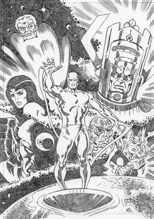 """Silver Surfer: Origins"" by Jon Haward (with a hat-tip to the late, great John Buscema)."