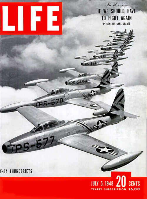 Life Magazine July 1984F-84 Thunderjets and interview with General Carl Spaatz