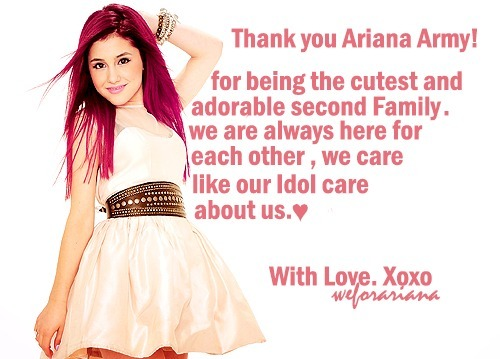 Thank you Ariana Army…♥
