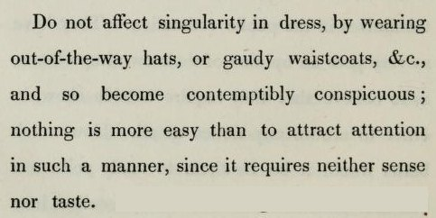 questionableadvice:  ~ Hints on Etiquette, by Charles Wm. Day, 1843  This Day in Out-Of-The-Way Hats.