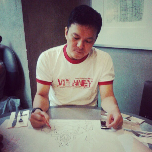 fr.joel and his art.. Voltes V (Taken with instagram)