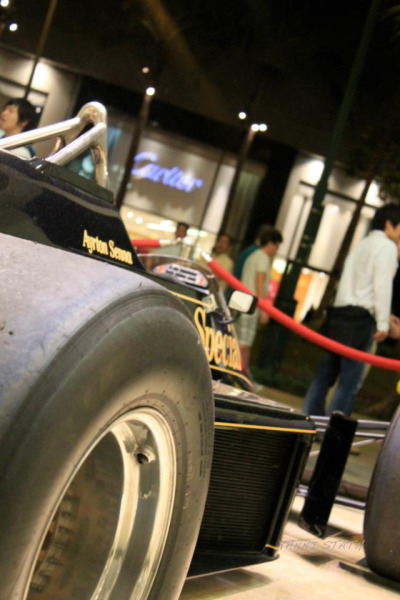 HAWAII. ARYTON SENNA ORIGINAL FORMULA 1 RACE CAR ON DISPLAY
