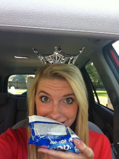 Eating my fancy breakfast in my car as I wait. Speaking at Clearwood Jr. High today to the kiddies in sixth grade.
