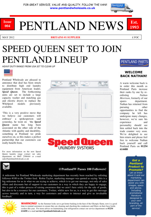 Latest edition of Pentland News