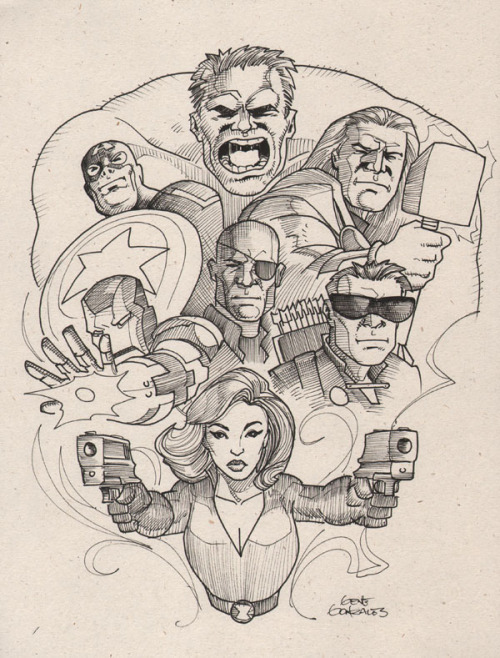 thehappysorceress:  The Avengers by Gene Gonzales