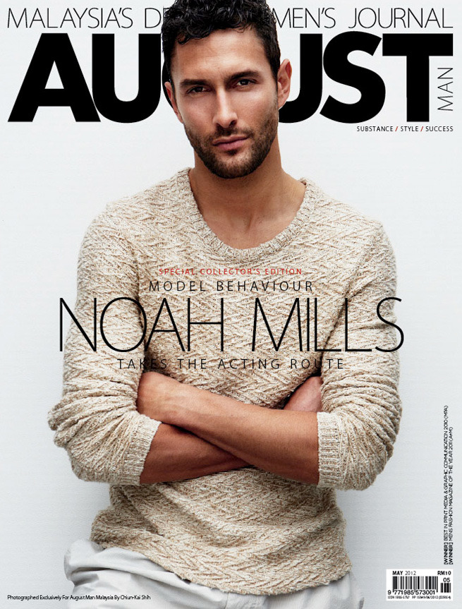 "Noah Mills photographed by Chiun-kai Shih ""Model Behaviour, Noah Mills Takes the Acting Route"" - AUGUST Man Magazine /May 2012/"