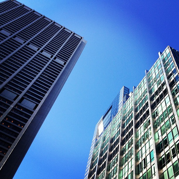 Chase Tower, Inland Steel Building. #chicago #chitecture #skyscraper #architecture  (Taken with instagram)