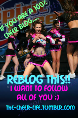 the-cheer-life:  hopefully you will follow me too :*