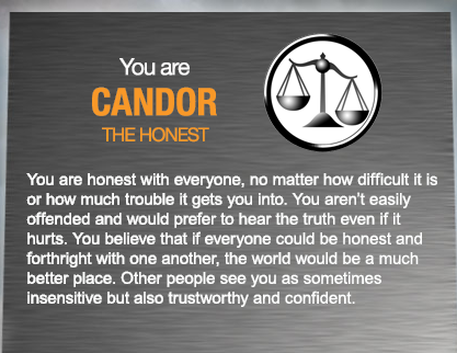 Welcome to the faction….  areckz:  I got Candor, interesting..