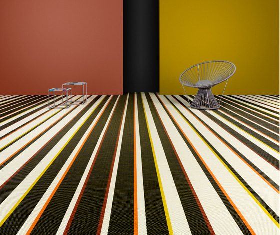 Bayadere Orange Flooring by Missoni for Bolon