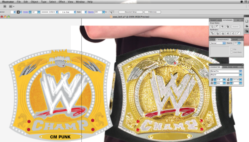 WWE belt : Vector version for the @CmPunk illustration  fucking details!