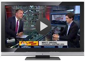 For those of you who missed it, here's the clip of Matthew on MSNBC discussing the 1 MILLION JOBS campaign. Check it out, sign the petition, and share the video with your friends!  www.ourtime.org/createjobsonmsnbc