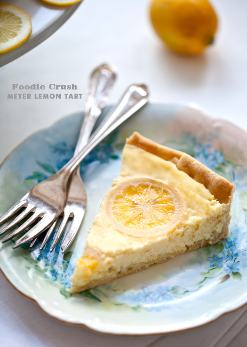gastrogirl:  meyer lemon tart with candied lemons.