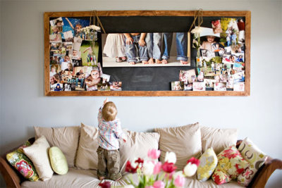 What a great way to display your favorite photos!  (via)