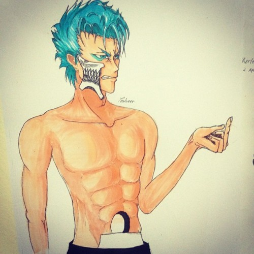 At least turns out pretty decent #grimmjow #bleach #drawing #copic  (Taken with instagram)