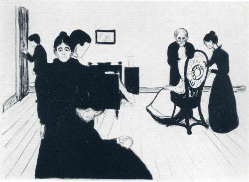 zitterberg:  Edvard Munch, The Death Chamber, 1896.