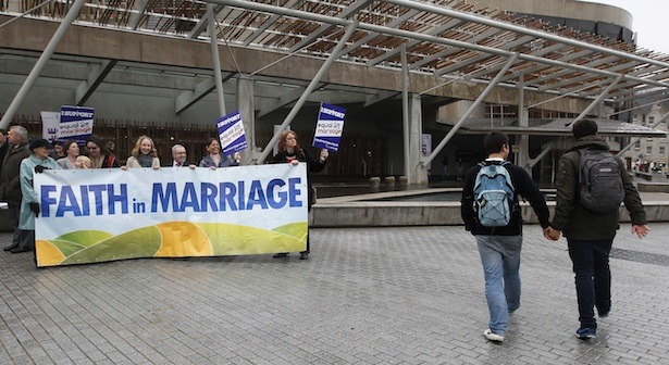 This Week, Obama Helped Traditional Marriage and North Carolina Hurt It  This week, voters in North Carolina, where same-sex marriage was already prohibited, passed a constitutional amendment against the practice, while President Obama, who wields no direct power over state marriage laws, finally affirmed that he favors full marriage rights for gays and lesbians.These were both symbolic moves. Social conservatives assert that North Carolinians were standing up for traditional marriage while Obama was betraying it, an analysis that they earnestly believe. But there's something they don't understand.Gays in North Carolina and everywhere else in the United States are never returning to the closet. Gay couples are going to be on television sitcoms, in movies, and dining at downtown restaurants on Saturday nights. Kids are going to have gay friends in school, and they're going to have straight friends with gay parents. As older people die and kids grow into teens and adults, acceptance of gays as normal is only going to increase. The question that remains is how these gay couples are going to live. When they live together or raise children together, are they going to marry? Read more. [Image: Reuters]