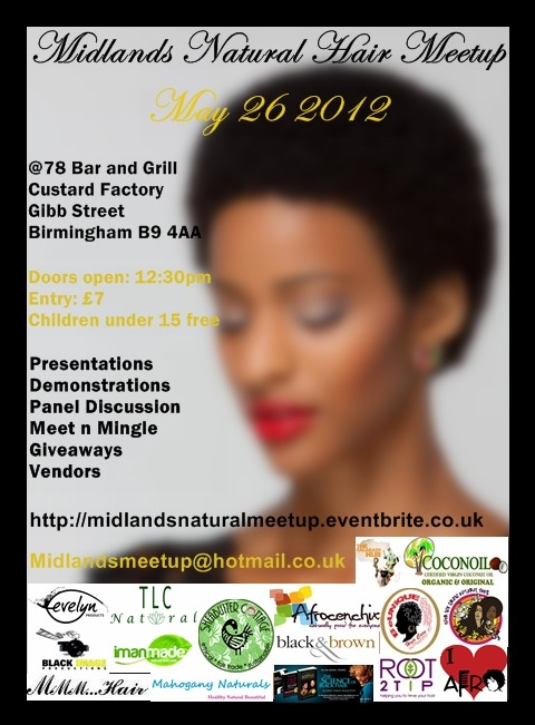 Midlands Natural Hair Meetup - May 26 2012 Samples of Imanmade Nourishing Body butter will be available on the day. Make sure you get yours!