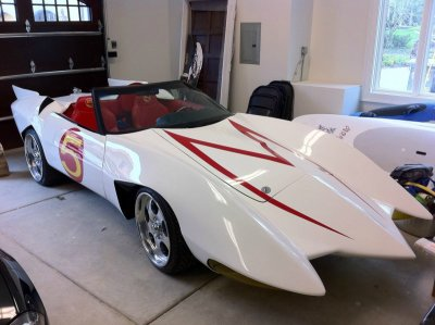 collegehumor:   Speed Racer's Mach 5 IRL  The coolest car you'll never use to pick up girls.  ;.; Soon.