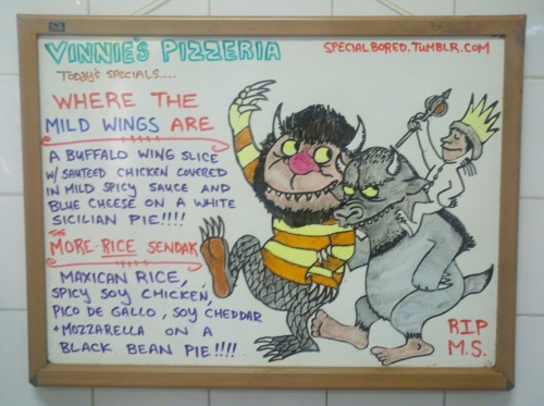 specialbored:  REST IN PIZZA, Mr. Sendak…