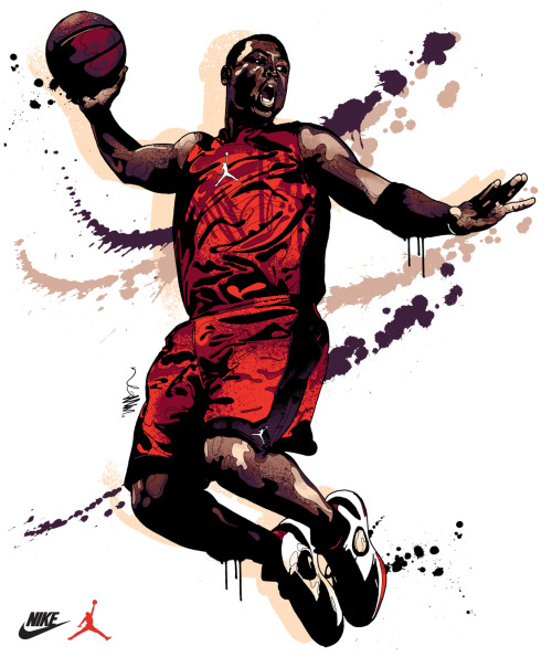 mitchybwoy:    Dwyane Wade One of 3 new signature illustrations / tees by Mitchy Bwoy for Nike / Jordan. Full set here»>