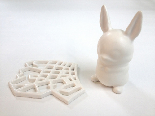 Satin White 3D Printed Ceramics at Shapeways on Flickr.