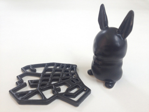 Satin Black 3D Printed Ceramics at Shapeways on Flickr.