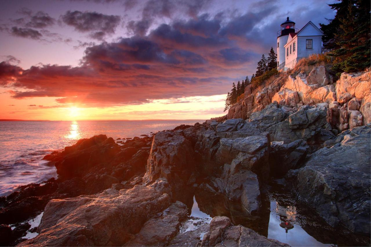 americasgreatoutdoors:  People have been drawn to the rugged coast of Maine throughout history. Awed by its beauty and diversity, early 20th-century visionaries donated the land that became Acadia National Park. The park is home to many plants and animals, and the tallest mountain on the U.S. Atlantic coast. Today visitors come to Acadia to hike granite peaks, bike historic carriage roads, or relax and enjoy the scenery.Photo: Xavier Cohen, National Park Service   Acadia National Park is one of my favorite places in the world. In other news, I'm told that's where I was conceived.