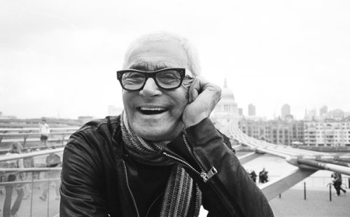 ETERNAL REVERENCE Vidal Sassoon, CBE, who died Wednesday, May 9, 2012, in Los Angeles.  I met him and his wife, Ronni once and they were incredibly gracious. He's an incredible man who literally shaped a step in the progression of women everywhere. R.I.P.   Have you seen his autobiographical documentary? It's great.