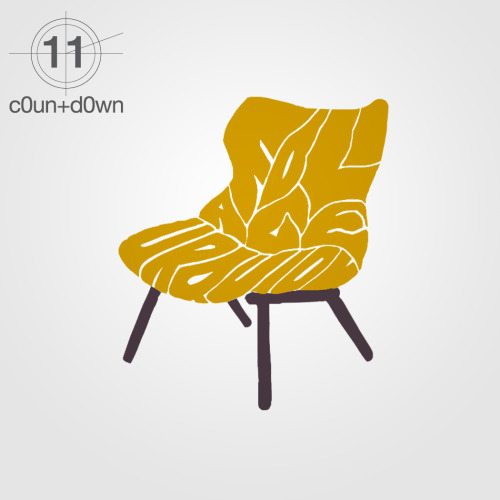 #c0untd0wn -11 for #milan2012 foliage chair, design by patricia urquiola for kartell