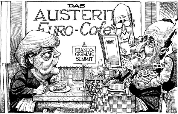 theeconomist:  KAL's cartoon: this week, austerity.