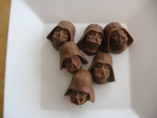 Chocolate Darth Vader Heads  Mmmm, the dark side of the chocolate.