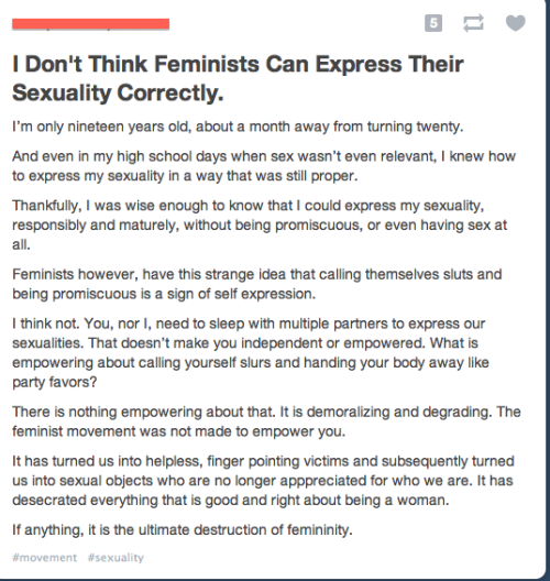 thatisnotfeminism:   SLUT SHAMING. I CALL SLUTSHAMING. Can we play a game like punch red buggy, where every time someone makes a slutshaming comment, you punch someone in the face?  Having a sense of morality = slut shaming. Only by inserting your dick into multiple vaginas or allowing the insertion of multiple dicks into your vagina can we hope to break this oppressive cycle! Join hands (or should I say genitals?) all mightiest warriors against slut-shaming, for it is you that is the future! Fight as one against those who would be a little bit more selective about their sexual partners as though it's a bad thing. Down with the oppressors! Power to the sex organs!