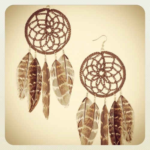 obsessed with dream catcher earrings <3 (Taken with instagram)