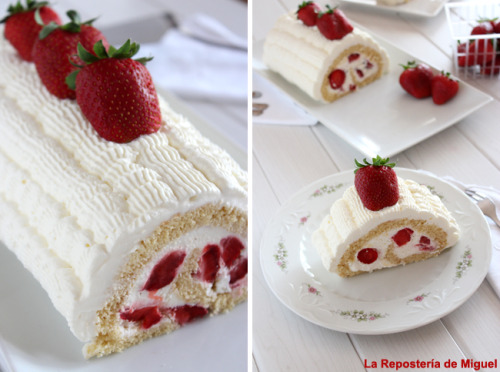 strawberry roll! (recipe)