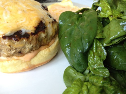 Zuly's Amazing Turkey Burgers, for the recipe go to: thehaughtyepicure.wordpress.com