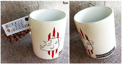 Diablo coffee mug - mady by friend