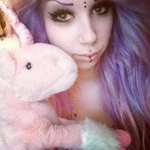 Took a nap w/ my unicorn, super tired still bohoo. (Taken with instagram)