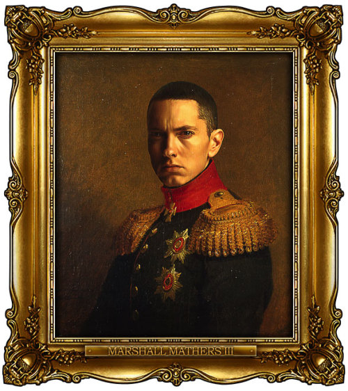 inspirationfeed:  (via Celebrities Digitally Painted As Russian Generals)