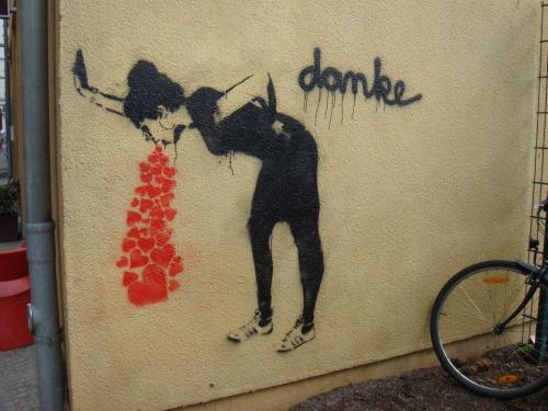 germanheit:  - Danke.  - Bitte. ;) (pic via StreetArt Germany)