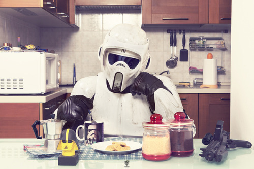 scotchtrooper:  Waking up with the wrong blaster? I feel ya, buddy.