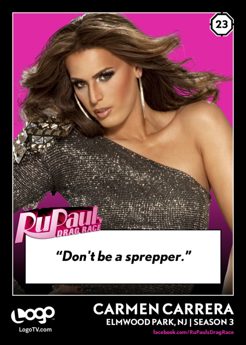 RuPaul's Drag Race TRADING CARD THURSDAY #23: Carmen Carrera