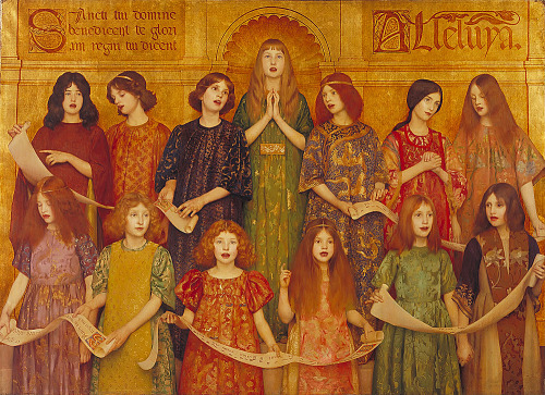 welovepaintings:  Thomas Cooper Gotch (1854–1931) Alleluia  1896